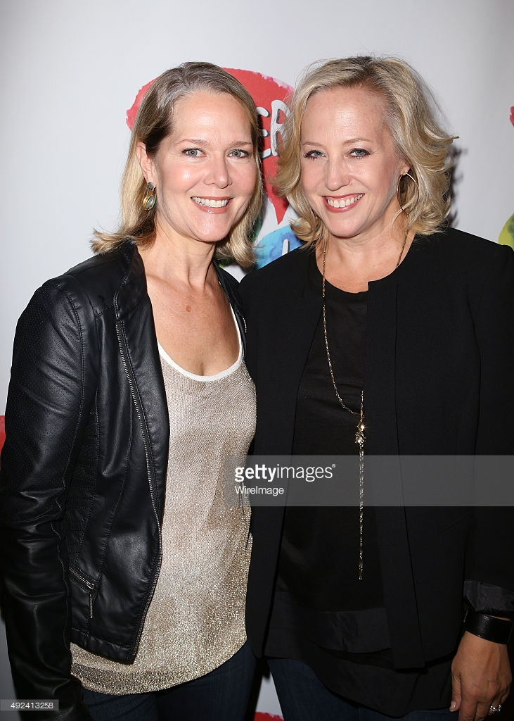 with Rebecca Luker (L)  Opening of Clever Little Lies